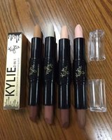 Wholesale KYLIE Double ended in Contour Concealer Kylie Jenner Eye Concealer Stick Facial Bronzers Highlighters Mineral Makeup Cosmetics