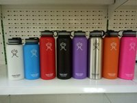 Wholesale HOT Hydro Flask oz Vacuum Insulated Stainless Steel Water Bottle Stainless Steel Tumbler Water Bottle cold insulation CUP Free Ship