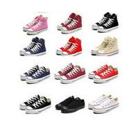 Precio de Hombres zapatos nuevos estilos-El nuevo 13 colorea todos los zapatos de lona clásicos de las zapatillas de deporte del zapato de lona de la tirada de las estrellas de deportes del estilo del tamaño 35-45 bajos / los zapatos de lona de las mujeres Unisex