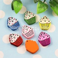 Wholesale 100pcs Colorful Lead free Ice Cream Wood Beads for Bracelet Necklace x17mm K00325