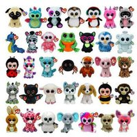 Wholesale Ty Beanie Boos Big Eyes Small Unicorn Plush Toy Doll Kawaii Stuffed Animals for Children s Toy Christmas Gifts CCA5670