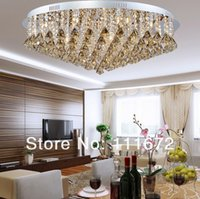 Wholesale new arrival modern crystal ceiling lamp lustre LED crystal light fixtures AC110 V bedroom light