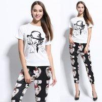 Style nouveau style décontracté occasionnels en coton femmes de coton de la mode européenne et l'été américain 2017 bonne qualité t-shirt 3003