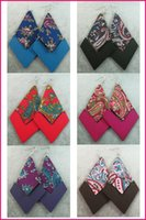 Wholesale 12pair Rhombus Wooden Wood Cloth Fashion Women European Earrings colors Mixed