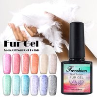Wholesale Frenshion set ML Leopard Fur Gel Nail Polish UV LED Gel Nail Polish Velvet Feel Soak Off Vernis Semi Permanent Esmaltes