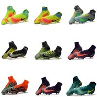 Wholesale Mens Kids Mercurial Superfly V FG Soccer Shoes Hot Sale Magista obra II FG Boys Soccer Cleats Women Mercurial x EA SPORTS Football Boots