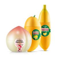 Wholesale Fruit Hand Cream Mango Banana Peach Moisturized Anti chapping Nourishing Hand Cream Hand Care Tool Hot Random