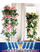 Brand New Мода Шелковый цветок розы Поддельные Искусственный Ivy Vine висячие Garland домой Свадебный декор бесплатная доставка Myy