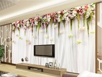 3d flores flores de vid verano sabor simple fondo mural 3d papel tapiz 3d papeles de pared para tv telón de fondo