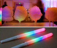 Wholesale 28 CM Colorful LED Light Stick Flash Glow Cotton Candy Stick For Vocal Concerts Night Parties JF