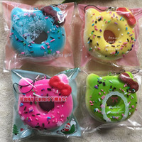apple pillows - 7cm colors Super squishy kawaii rare hello kitty donut squishy with tags toy soft hand pillow Chain Phone