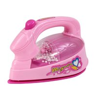 Wholesale Mini Simulation electric iron toy for kid classic electric furniture toy the best gift for children Pink