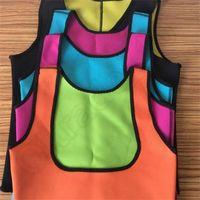 Wholesale Hot Shaper Tights Fitness Neoprene Boby Shaper Sports Tank Trainer Vest Slimming Sweat Belt colors S XL OOA908