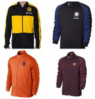 Wholesale Dot the Netherlands Rome new adult Jackets Tracksuits football training clothes high quality Sweatshirt