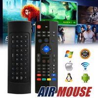 Bon Marché Claviers infrarouges-Wireless Air Mouse Keyboard Télécommande QWERTY Wireless Multi-media 2.4GHz Infrared Controller pour Android TV Box HTPC avec Retail Box