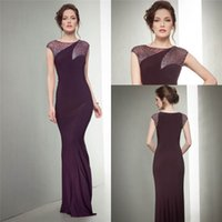 Wholesale 2017 Modest Celebrity oscar red carpet gown Burgundy mermaid plus size elegant Prom Gowns Formal Custom Evening Party Club Wear