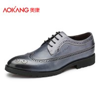 aokang shoes - Aokang The Hottest Fashion Men Shoes Genuine Leather Men s Brogues Shoes Leather Dress shoes