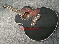 2017 guitare nouvelle marque SJ200 12 cordes noir guitare acoustique en stock Guitares Chine