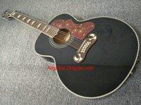 2017 nueva guitarra de la marca de fábrica SJ200 12 cuerdas guitarra acústica negra en la acción China guitarras