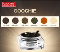 Wholesale Goochie Permanent Makeup paste eyebrow pigment brown deep coffee black coffee green coffee Orange Coffee skin color
