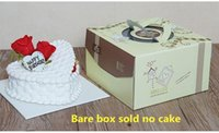 Wholesale Light green cartoon themed packaging box Hand held birthday cake cases Quality food grade corrugated box