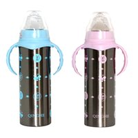 Wholesale Thermos Baby Bottle Insulation Cup Feeding Bottles For Water Milk Stainless Steel Cups Warmer Temperature For Newborn Infant
