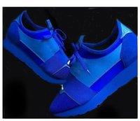 Precio de Designer brand name men shoes-2017 más nuevo Nombre del diseñador Marca Mujer Hombre Zapatos Pisos Chaussure Moda Desnudo Negro Malla De Cuero Lace Up Trainer Casual Shoes