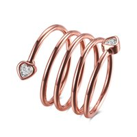 Wholesale INANIS Rose Gold Plated Rings New Arrivals Marriage Proposal Weddings Finger Rings Womens Girls Fashion Jewelry