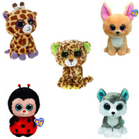 Wholesale Beanie Boos Plush Animals Plush Toys Big Eyes Soft Toys for Children christmas Kids Toys most no tags