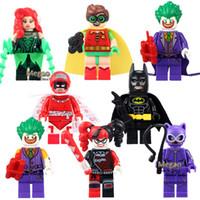 Wholesale 8pcs PG8032 Batman Movie Calendar Man Batman Harley Quinn Cape Low Rider Building Blocks Children Festival Gift Toys