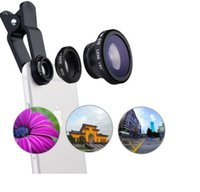 Wholesale 3 in Universal Clip Fish Eye Wide Angle Macro Phone Fisheye Lens For iPhone Samsung Cheap Price Best Glass Lens Quality DHL
