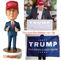 Wholesale New President Donald Trump Bobblehead Make America Great Again Hat Flag