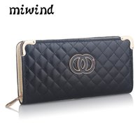 american windmill - 2017 fashion new Korean style small windmill suture clutch new Lingge wallet card bag holding the bag multi card position long wallet fashio
