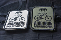 airborne paratrooper - High Quality AIRBORNE Paratrooper Embroidery D Badge Patch Morale Military Armband Tactical Patch cm free ship