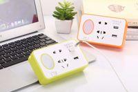Wholesale Multfunctional LED night light Feeding bedside lamps phone holder hole socket USB charging converter for baby kids Maternity