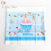 baby blue table cloth - Party supplies for boy baby st birthday blue theme party birthday party decoration table cover one off table cloth
