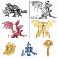 Wholesale New Limited Edition Piececool D Metal Puzzle Dragon Flame P071 RS DIY Metal Puzzle Kits Jigsaw Model Adult Toy For Collection