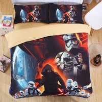 Polyester / Cotton beautiful cleaning - Star Wars D Bedding Set Print Duvet cover Twin full queen king size Beautiful pattern Real effect lifelike bed sheet linen Bedding Supplies