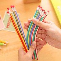 Wholesale Flexible Soft Pencil Cute Stationery Colorful Korea Eraser Student School Office Use Magic Bendy Children Gift Pencils