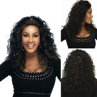 Wholesale Fashion Africa Style Black Human Women Curly Hair Wigs U S A Style Female Wig