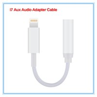 Wholesale New Earphone adapter for iPhone Plus mm Audio Aux Port Headphone Cable Adapter
