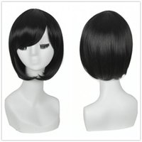 affordable fashion accessories - Natural Black Short Bob Wig Popular Fashion Affordable Synthetic Hair Wigs