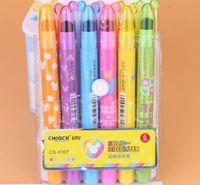 Wholesale Fluorescent pen fluorescent marker pen Korean creative lovely practical jelly graffiti solid jelly students stationery pen