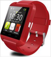 Acheter U8 montre iphone-Bluetooth Smart Watch U8 Montre SmartWatch poignet pour iPhone 4 4S 5 5S 6 6S 6 plus Samsung S4 S5 Note 2 Note 3 HTC Téléphone Android Smartphones