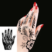 Wholesale Body Hand Ink Tattoo Art India Henna Design Simply Stencil Mehndi Tattoos Templates Henna Stencils PC