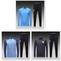 Wholesale Thai MancHesters Tracksuit KUN AGUERO chandal DE BRUYNE SILVA TOURE YAYA City training suits sports wear