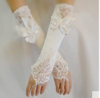 Wholesale Butterfly wedding dress wedding accessories bride satin white bridesmaid cheongsam gloves Lu means the new long lace