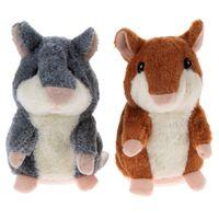 Talking Hamster Mouse Mascota juguetes de peluche Caliente lindo hablar Hablar de sonido Hamster juguete educativo para niños Regalo de Navidad