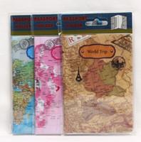 Card Holders Passport Unisex World Trip Map Travel Passport Holder PVC Passport Cover Wallets Passport Bag Case ID Holder World Trip Accessories KKA1349