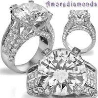 al por mayor k antigua-13.70 ct K VS ronda brillante diamante natural compromiso anillo antiguo platino